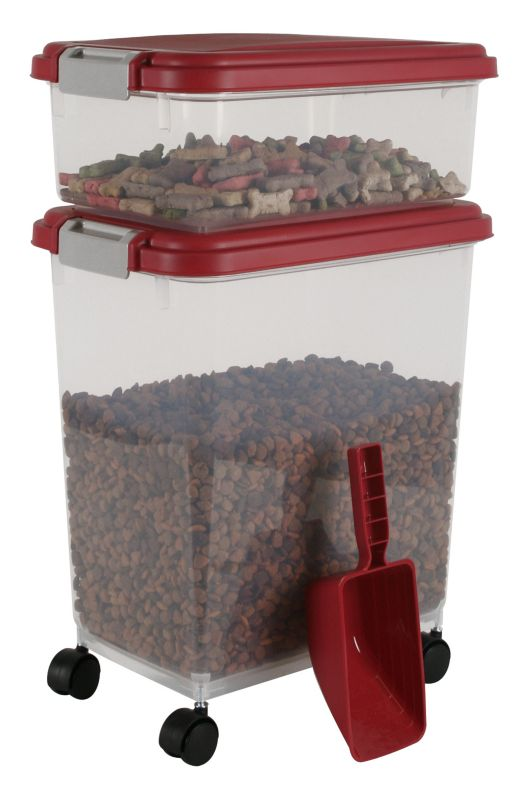 Iris Airtight Food Storage and Scoop Combos Red