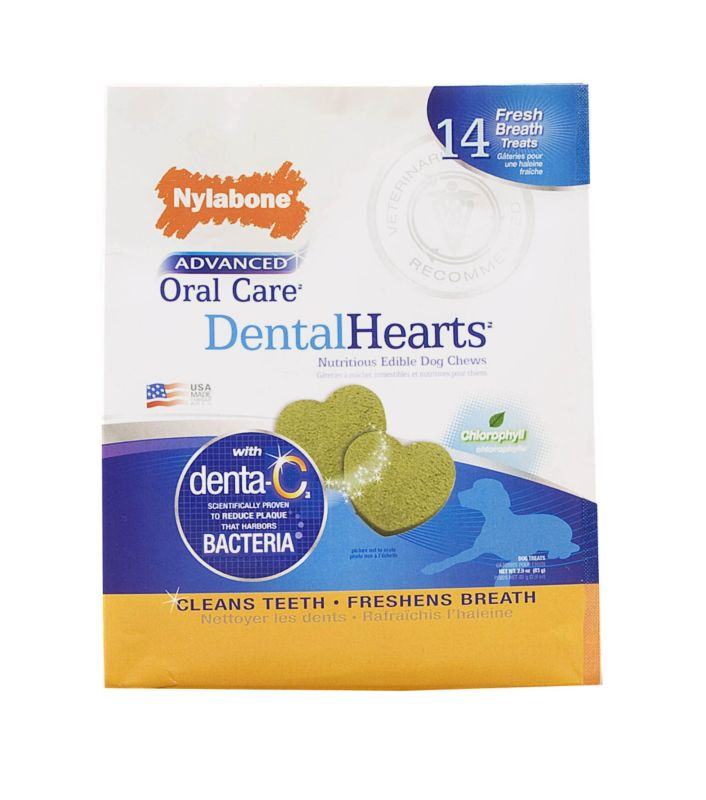 Advanced Oral Care Dental Hearts Dog Treats 14 ct