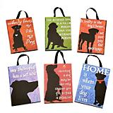 Dog Silhouette Plaque Christmas Ornament Set