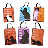 Cat Silhouette Plaque Christmas Ornament Set