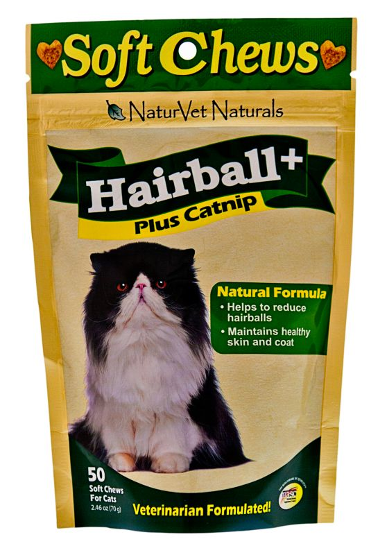 NaturVet Hairball Plus Cat Treat
