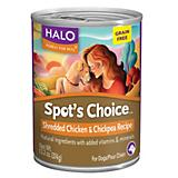 Halo Spots Choice Grain Free Chicken Can Dog Food