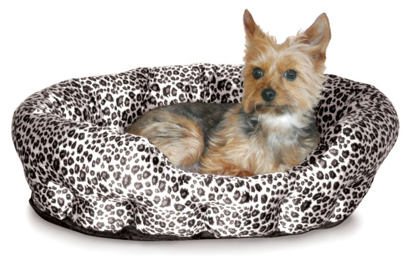 K and H Self Warming Nuzzle Nest Pet Bed Brown