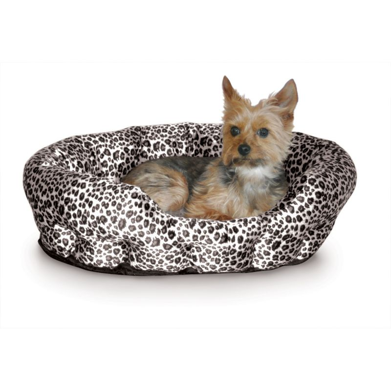 K and H Self Warming Nuzzle Nest Pet Bed Black