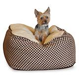 KH Mfg Deluxe Cuddle Cube Brown Dog Bed