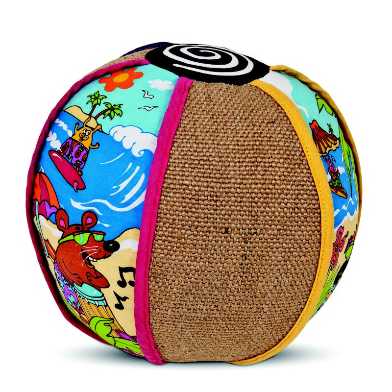 Fat Cat Kitty Kahuna Beach Ball Cat Scratcher Toy