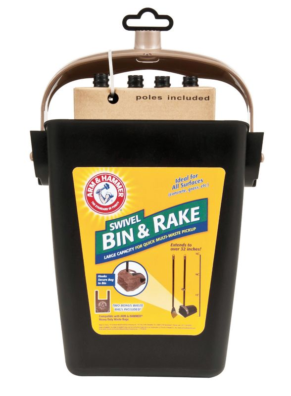 Arm and Hammer Swivel Bin and Rake Waste Remover