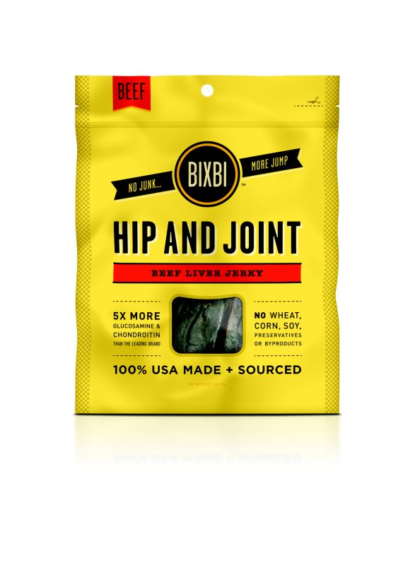 Bixbi Hip and Joint Jerky Dog Treat Beef Liver