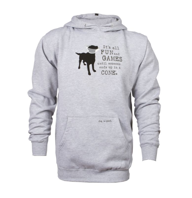 Dog Is Good Its All Fun and Games Hoodie XL