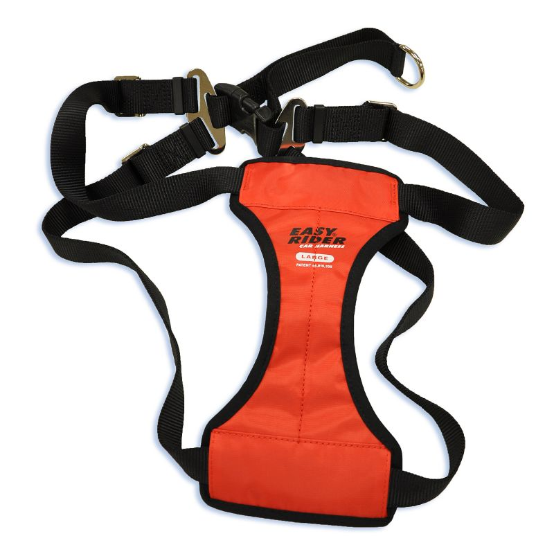 Coastal Pet Easy Rider Sport Car Harness - Black: Medium - (Fits Girth