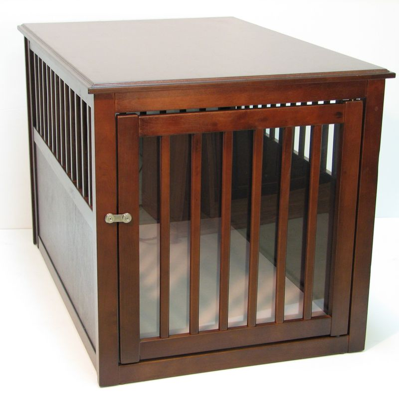 Crown Pet Crate Table Large Espresso