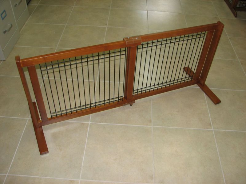 Crown Pet 21 inch Freestanding Wood Pet Gate Large