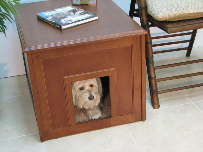 Crown Pet Doggie Den Indoor Doghouse Espresso