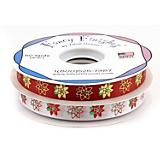 Pointsettia Printed Ribbon
