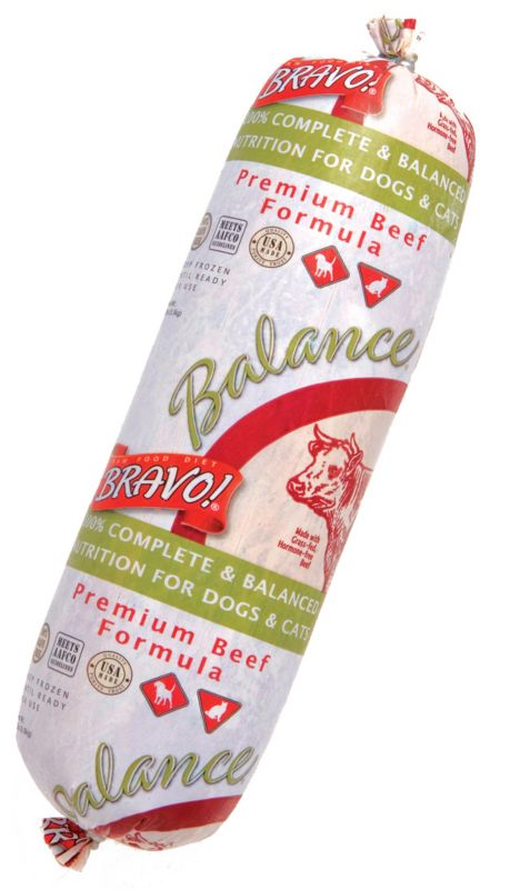 Bravo Balance Beef Chub Frozen Raw Pet Food 5lb