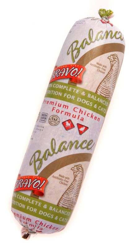Bravo Balance Chicken Chub Frozen Raw Pet Food 2lb