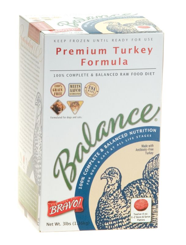Bravo Balance Turkey Patties Frozen Raw Pet Food