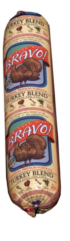 Bravo Blend Turkey Frozen Raw Pet Food 10lb