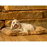 Burly Joe Burlap Rectangular Pillow Dog Bed