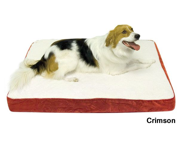 Happy Hounds Orthopedic Dog Bed Medium Crimson