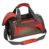 Sherpa Duffle Pet Carrier Red/Silver