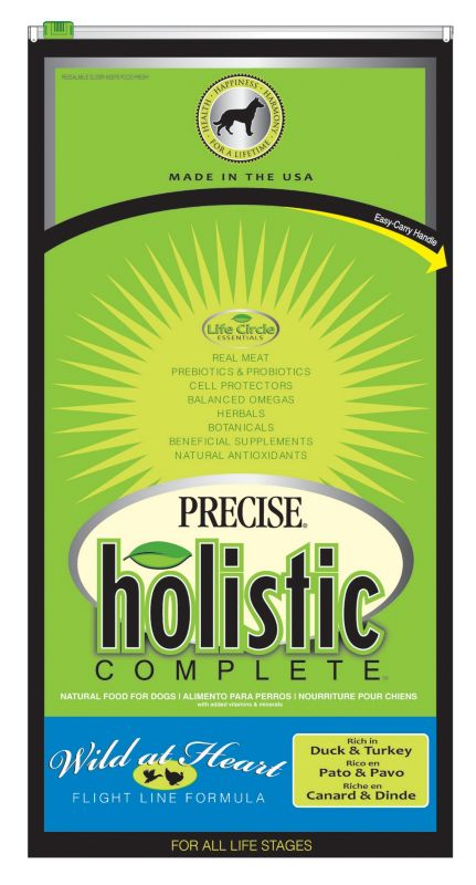 Precise Holistic Complete Duck Dry Dog Food 30lb