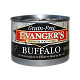 Evangers Grain Free 100 Buffalo Can Pet Food 24 Pk