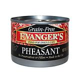 Evangers Grain Free 100 Pheasant Can Pet Food 24Pk