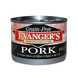 Evangers Grain Free 100 Pork Can Pet Food 24 Pack