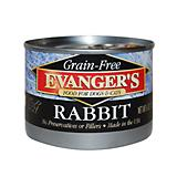 Evangers Grain Free 100 Rabbit Can Pet Food 24 Pk