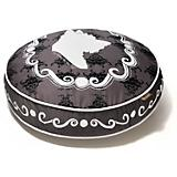 PLAY Cameo Black Round Dog Bed