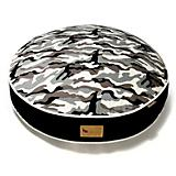 PLAY Camouflage White Round Dog Bed