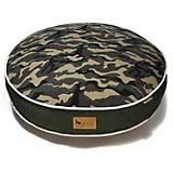 PLAY Camouflage Green Round Dog Bed
