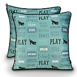 PLAY Dogs Life Light Blue Pillow Dog Bed
