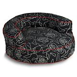 Crypton Bed of Roses Black Bolster Dog Bed