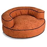 Crypton Bed of Roses Orange Bolster Dog Bed
