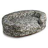 Crypton Cherries Charcoal Bolster Dog Bed