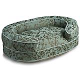 Crypton Cherries Teal Oval Bolster Dog Bed