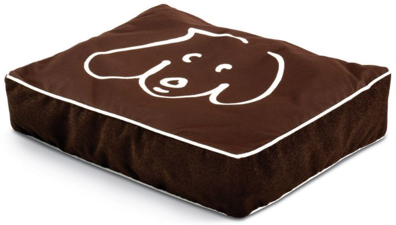 Crypton Doodle Dog Twig Rectangle Dog Bed Small