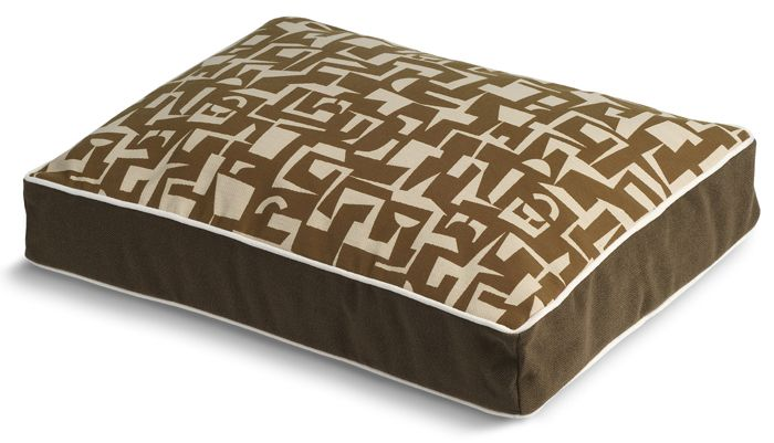 Crypton Modern Brown Rectangle Dog Bed Small