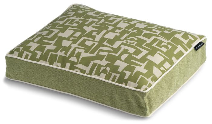 Crypton Modern Green Rectangle Dog Bed Large