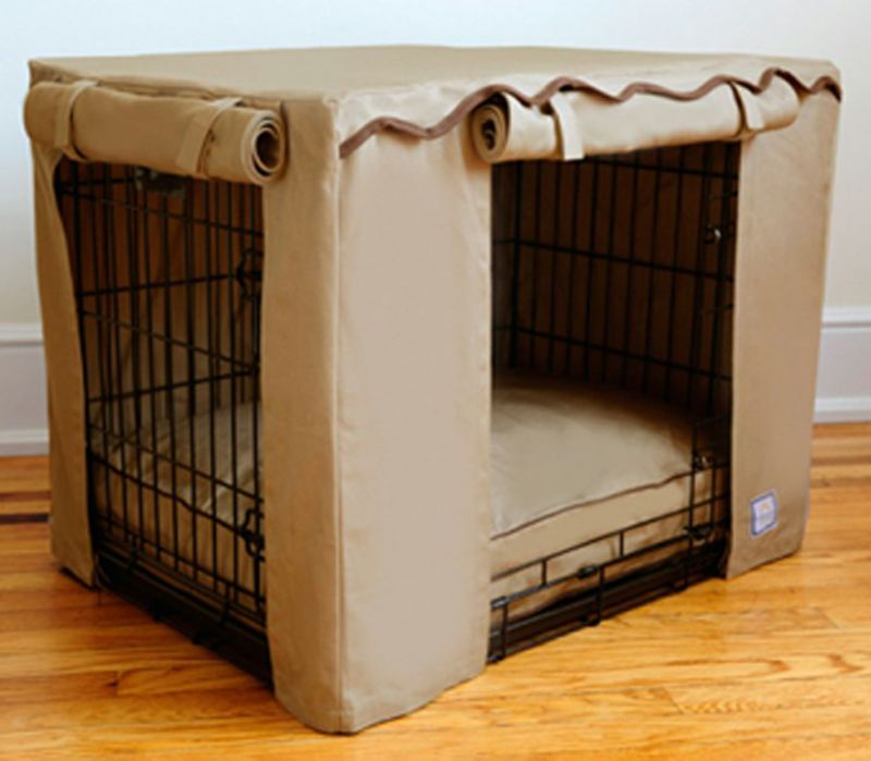 BowhausNYC Latte Dog Crate Cover Small