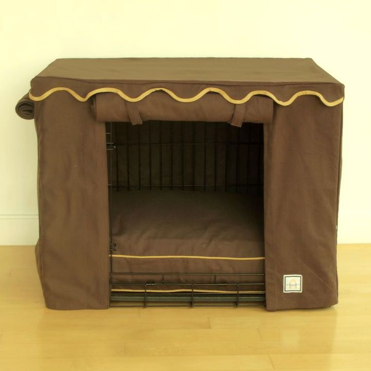 BowhausNYC Teak Brown Dog Crate Cover X-Large