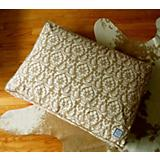 BowhausNYC Damask Pillow Dog Bed