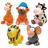 Zanies Medium Latex Animals Dog Toy 5pk