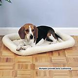 Slumber Pet Natural Sherpa Dog Crate Bed
