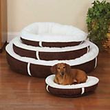 Slumber Pet Chocolate Sherpa Donut Dog Bed