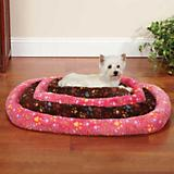 Slumber Pet Plush Pawprint Dog Crate Bed