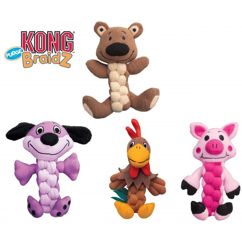 KONG Pudge Braidz Dog Toy Medium/Large Dog