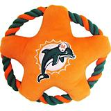 Miami Dolphins Rope Disk Dog Toy